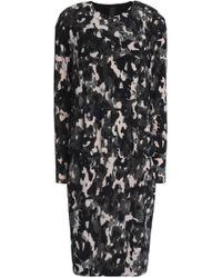 Norma Kamali - Printed Stretch-jersey Mini Dress - Lyst