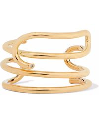 Elizabeth and James - Gold-plated Topaz Cuff - Lyst