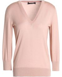 Dolce & Gabbana - Cashmere And Silk-blend Sweater - Lyst