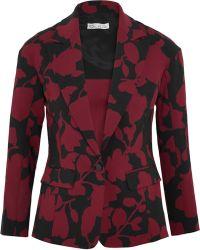 Oscar de la Renta - Printed Wool-blend Crepe Blazer - Lyst