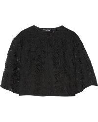 Noir Sachin & Babi - Cali Cropped Lace Jacket - Lyst