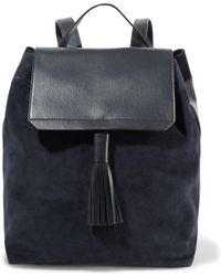 Iris & Ink - Leather And Suede Backpack - Lyst