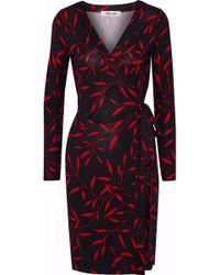 Diane von Furstenberg - Julian Printed Silk-jersey Wrap Dress - Lyst