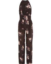 Nina Ricci - Floral-print Silk-georgette Jumpsuit - Lyst