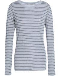 Vince - Striped Pima Cotton-jersey Top - Lyst