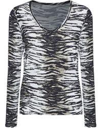 Majestic Filatures - Zebra-print Jersey Top - Lyst
