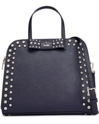 Kate Spade - Merriam Davies Mews Embellished Leather Shoulder Bag - Lyst
