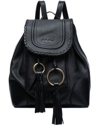 See By Chloé - Tasseled Textured-leather Backpack - Lyst