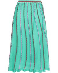 M Missoni - Pleated Crochet-knit Midi Skirt - Lyst