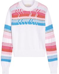 Peter Pilotto - Crochet-paneled Cotton Sweater - Lyst