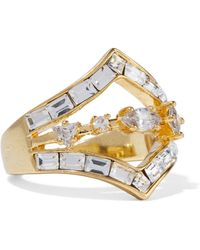 Luv Aj - Gold-plated Crystal Ring - Lyst