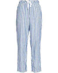 Sleepy Jones - Striped Cotton Pyjama Trousers - Lyst