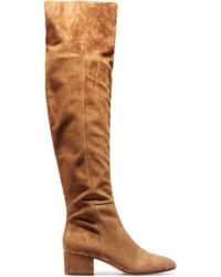 111b8576562 Gianvito Rossi - Woman Suede Over-the-knee Boots Light Brown - Lyst