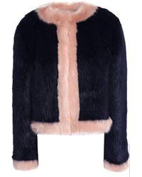Shrimps - Woman Neil Faux Fur Coat Midnight Blue - Lyst