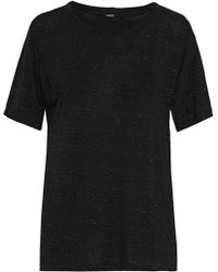 Monrow - Marled Jersey T-shirt - Lyst