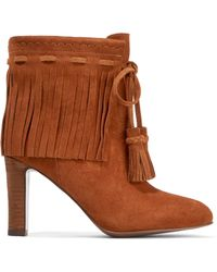 0a5ebe06bc4 Lyst - See By Chloé Fringed Leather Over The Knee Boot