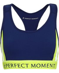 Perfect Moment - Printed Stretch Sports Bra - Lyst
