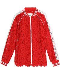 Goen.J | Two-tone Cotton Guipure Lace Jacket | Lyst