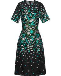 Lela Rose - Silk-blend Floral-jacquard Dress - Lyst