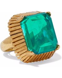 Elizabeth Cole - Woman Wren 24-karat Gold-plated Stone Ring Emerald - Lyst