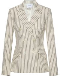 10 Crosby Derek Lam - Double-breasted Striped Cotton-blend Blazer - Lyst