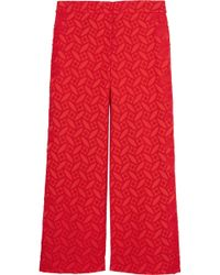 Sachin & Babi | Claudette Cropped Broderie Anglaise Cotton Wide-leg Pants | Lyst