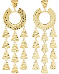 Noir Jewelry - Hammered Gold-tone Earrings - Lyst