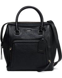 DKNY - Pebbled-leather Shoulder Bag - Lyst
