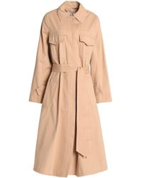 Ganni - Cotton-twill Trench Coat - Lyst