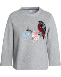 RED Valentino - Embroidered Cotton-terry Sweatshirt - Lyst