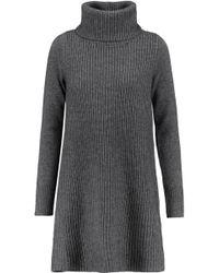 Madeleine Thompson Woman Andros Wool And Cashmere-blend Turtleneck Dress Dark Gray Size M Madeleine Thompson rjr95