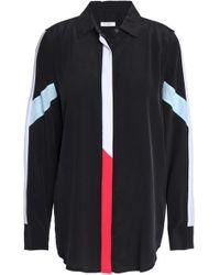 Equipment - Striped Washed-silk Shirt - Lyst