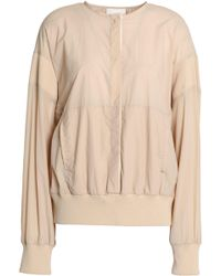 DKNY - Ribbed Knit-trimmed Shell Jacket - Lyst