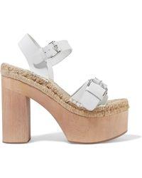 Paloma Barceló - Lucia Buckled Leather Platform Sandals - Lyst