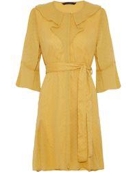 W118 by Walter Baker - Belted Swiss-dot Georgette Mini Dress - Lyst