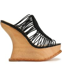 Paloma Barceló - Macramé Wedge Sandals - Lyst