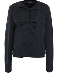 Giambattista Valli - Woman Bow-detailed Satin Jacket Black - Lyst