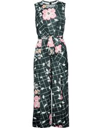 Raoul - Bice Bow Ruffled Printed Satin Jumpsuit - Lyst