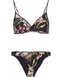 Zimmermann - Curacao Tuck Floral-print Triangle Bikini - Lyst