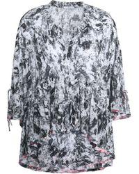 IRO - Milia Ruffled Printed Gauze Top - Lyst
