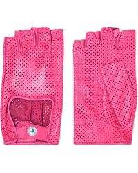 Causse Gantier - Perforated Leather Gloves - Lyst