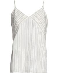 Vince - Striped Silk Camisole - Lyst