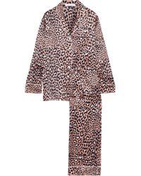 Olivia Von Halle - Lila Raelyn Leopard-print Silk-satin Pajama Set - Lyst
