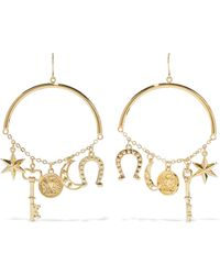 Noir Jewelry - Woman Gold-tone Earrings Gold - Lyst