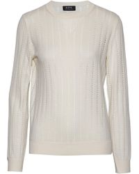A.P.C. - Pointelle-knit Cotton, Silk And Cashmere-blend Sweater - Lyst