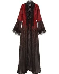 Elie Saab - Crocheted Lace-trimmed Embroidered Cotton-blend Jacket - Lyst