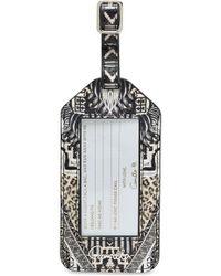 Camilla - Printed Leather luggage Tag - Lyst
