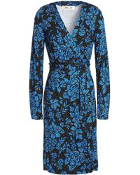 Diane von Furstenberg - Julian Floral-print Silk-jersey Wrap Dress - Lyst