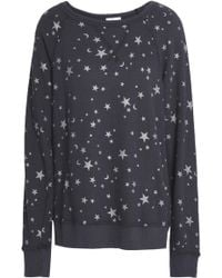 Joie - Metallic Printed French Cotton-terry Sweatshirt - Lyst