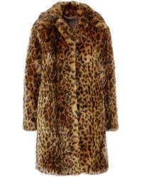 J.Crew - Woman Leopard-print Faux Fur Coat Animal Print - Lyst